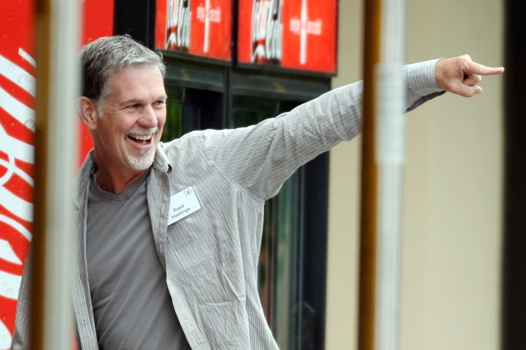 Reed Hastings knows he's your pusher, baby. (Photo by Kevork Djansezian/Getty Images)