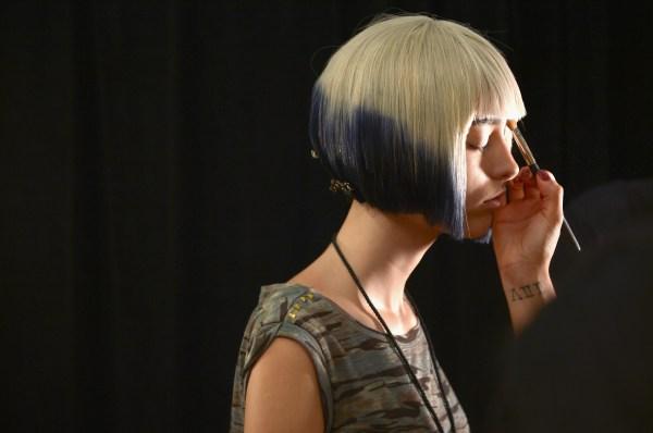 Carmen Marc Valvo - Backstage - Mercedes-Benz Fashion Week Spring 2014