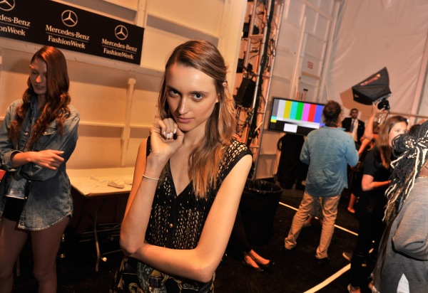 Noon By Noor - Backstage - Mercedes-Benz Fashion Week Spring 2014
