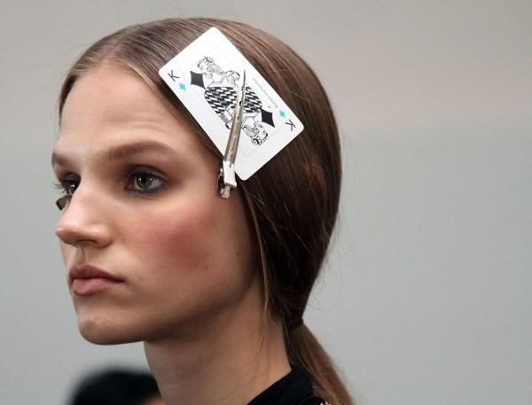 Tess Giberson - Backstage - Mercedes-Benz Fashion Week Spring 2014