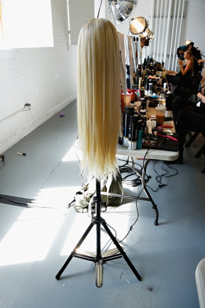 Sally Lapointe - Backstage - Mercedes-Benz Fashion Week Spring 2014