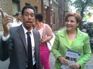 Antonio Reynoso and Christine Quinn in Williamsburg.
