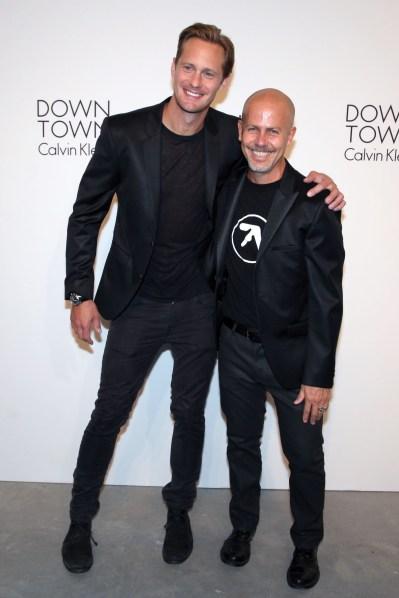 Alexander Skarsgard and Italo Zucchelli at Calvin Klein. (Photo: Patrick McMullan)