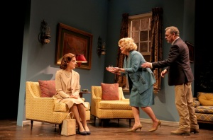 Hallie Foote, Betty Buckley and Cotter Smith in 'The Old Friends.' (Photo by Joan Marcus)