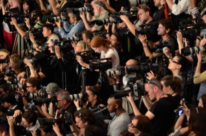 An army of photographers at Fashion Week