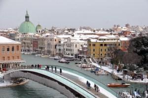Calatrava's bridge in Venice. (Photo by Marco Sabadin/AFP/Getty Images)