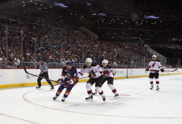 The Islanders took on the Devils in a pre-season game at the Barclays Center on Saturday. (Photo by Getty Images)