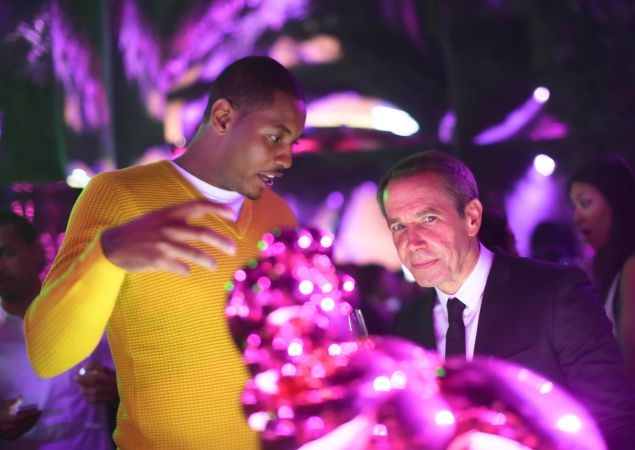 Carmelo Anthony and Jeff Koons