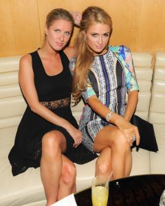 Paris and Nicky Hilton at the Boom Boom Room.