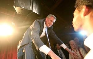 Bill de Blasio at his victory party last week. (Photo: Getty)