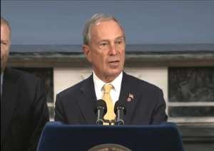 The mayor at today's press conference. (Photo: YouTube/mayorbloomberg)