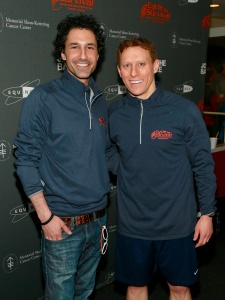 Ethan Zohn, left, and Kyle Post.