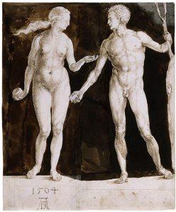 Dürer's 'Adam and Eve,' 1504. (Courtesy the Morgan Library)