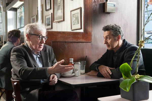 Woody Allen and John Turturro in Fading Gigolo.