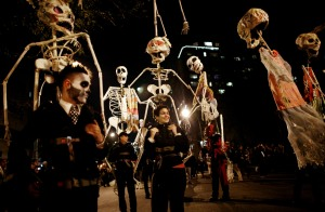 The New York City Village Halloween Parade will celebrate its 40th anniversary this year. (Photo by Rick Gershon/Getty Images)