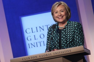 Hillary Clinton at the Clinton Global Initiative  (Photo: MEHDI TAAMALLAH/AFP/Getty Images)