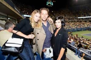 Dree Hemingway, Derek Blasberg and Leigh Lezark attend the Moet & Chandon Suite at the USTA Billie Jean King National Tennis Center.