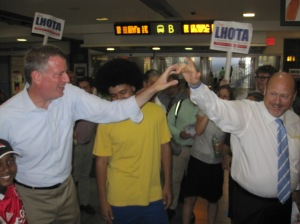Joe Lhota and Bill de Blasio.