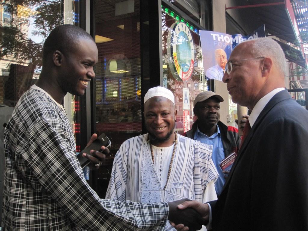 Bill Thompson in Harlem today.