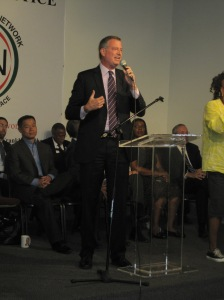 Bill de Blasio at the National Action Network.