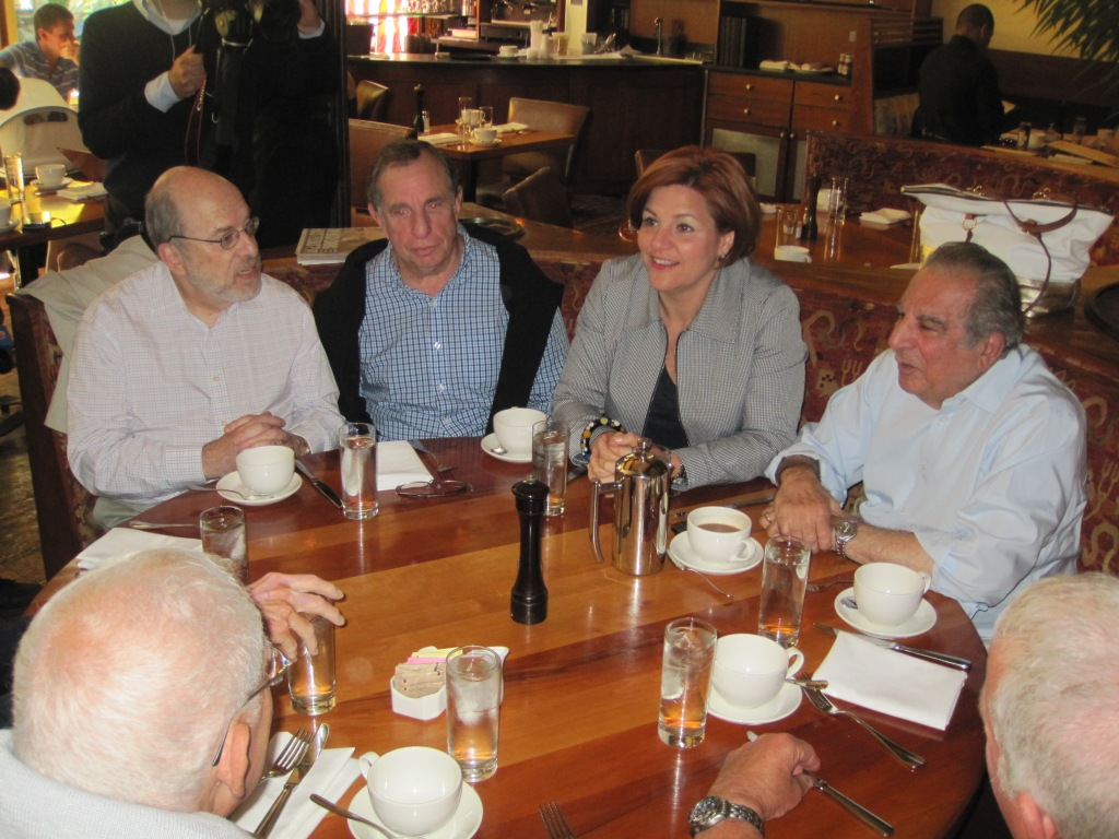 Christine Quinn joins Ed Koch's weekly lunch.