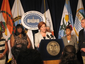 Christine Quinn at today's stated meeting.