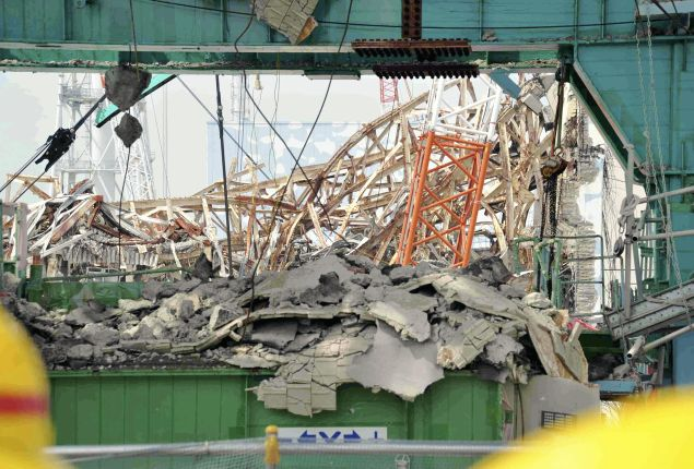 Two of the exploded reactors at the Fukushima Daichi nuclear power plant.