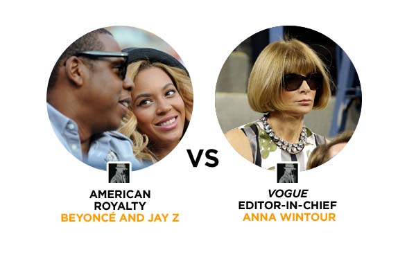 Jay Z and Beyonce VS Anna Wintour