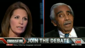 Michele Bachmann and Charlie Rangel debate.