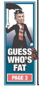 Part of today's New York Post cover.