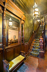 The period details are striking, but we doubt the staircase will look like this in a year.