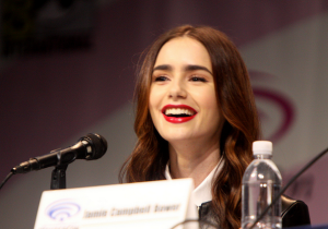 Here is Lily Collins. (Photo: Flickr/Gage Skidmore)