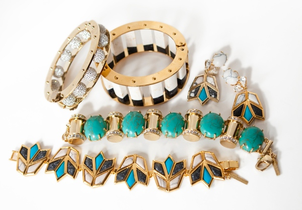 Selections from Lele Sadoughi's new jewelry collection, launched post-J. Crew.