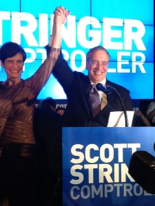 Scott Stringer declaring victory.