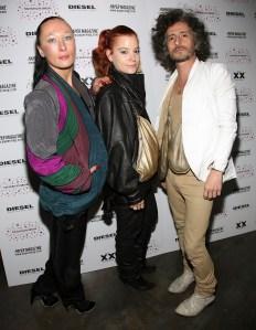 ThreeASFOUR designers Angela Donhauser, Adi Gil and Gabriel Asfour, from left.