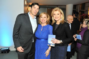 Masters of their domain: Aol CEO Tim Armstrong, author Agapi Stassinopoulos and her sister, Arianna Huffington (Patrick McMullan)