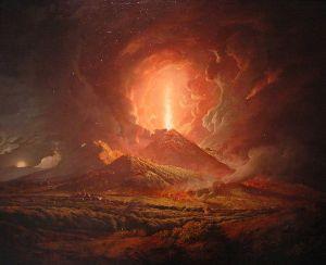 'Vesuvius from Portici,' ca.1774-76, by Joseph Wright of Derby