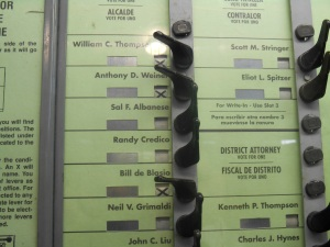 Voting in New York City today is special.