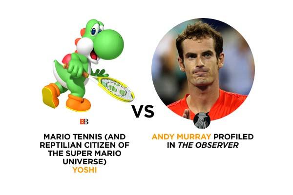 Yoshi VS. Andy Murray