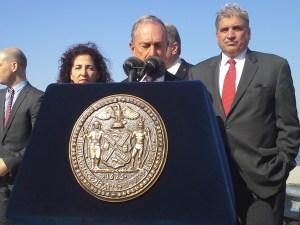 Mayor Michael Bloomberg today.