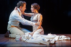 Christopher Innvar and Mary-Louise Parker in  'The Snow Geese.' (Photo by Joan Marcus)
