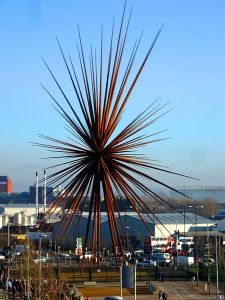 """The B of the Bang, Manchester, England"" (Courtesy Wikipedia)"