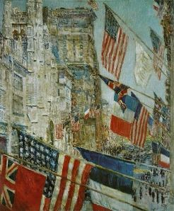 Childe Hassam's 'Allies Day, May 1917' (1917), which cannot be seen at the National Gallery at the moment. (Courtesy NGA)