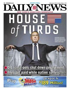 Daily News Government shutdown cover