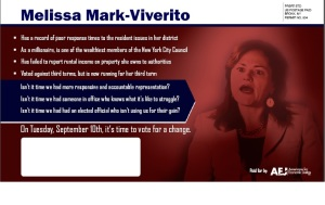 The AEJ mailer against Ms. Mark-Viverito.