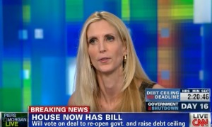 Ann Coulter on Piers Morgan Live last night.