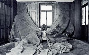 Bucher, work in process, master-bedroom, ca. 1977–78. (Courtesy the estate of Bucher and Alexander Gray Associates)