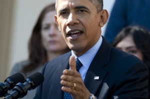 Barack Obama defending  the health-care roll-out yesterday. (Photo: Getty)