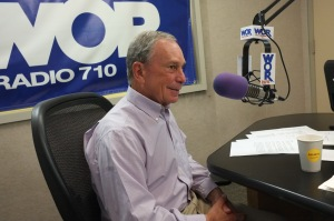 Mayor Michael Bloomberg on the radio.