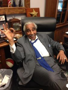 Congressman Charlie Rangel is doing just fine. (Photo: Twitter)